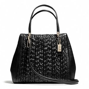Coach Madison North/South Quilted Leather Satchel
